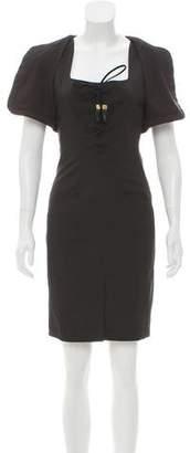 Altuzarra Lace-Up Mini Dress