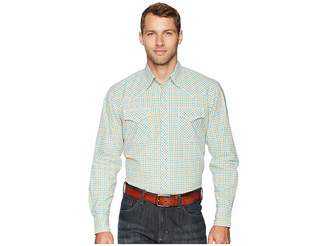 Wrangler 20X Long Sleeve Two-Pocket Competition Ac Snap Plaid
