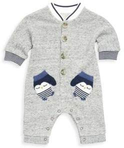 Catimini Baby Boy's All In One Penguin Pocket Romper