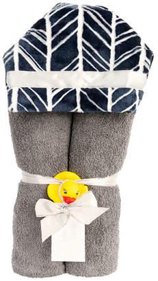 Swankie Blankie Herringbone Hooded Towel, Navy