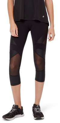 Sweaty Betty Power Wetlook Mesh 7/8 Workout Leggings