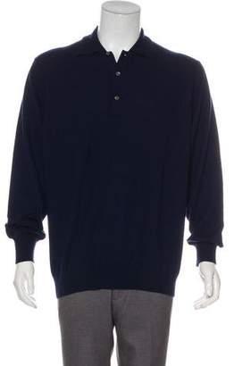 Malo Cashmere Polo Sweater