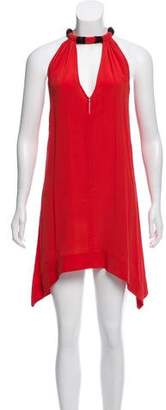 Vena Cava Cutout Silk Dress