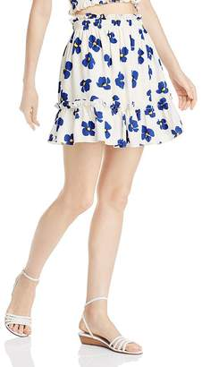 Aqua Ruffled Floral Skirt - 100% Exclusive