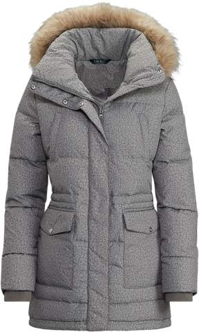 Faux-Fur-Trimmed Jacket