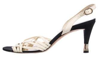 Chanel CC Slingback Sandals