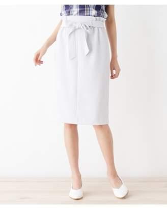 INDEX (インデックス) - インデックス 共地リボン付きタイトスカート