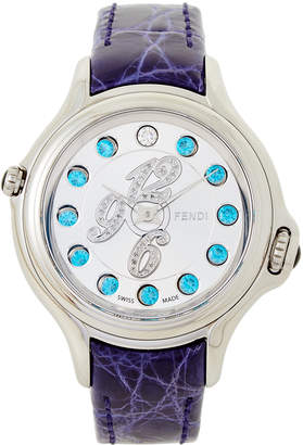 Fendi F104036033D1T04 Silver-Tone & Purple Crazy Carats Watch