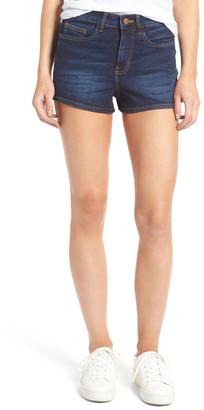 BP. High Rise Denim Shorts (Deep Sea Blue) $39 thestylecure.com
