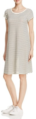 Eileen Fisher Striped Short Sleeve Dress $168 thestylecure.com