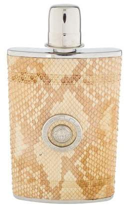 Versace Python-Trimmed Hip Flask