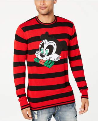 Reason Men Money Cat Striped Sweater