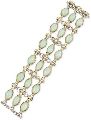 Konstantino Sea Blue Agate & Pearl Bracelet