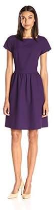 Lark & Ro Women's Short Sleeve Square Neck Dress