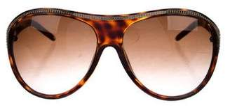 Valentino Embellished Tortoise Shell Sunglasses
