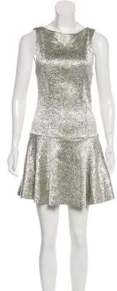 Alice + Olivia Metallic Textured Dress