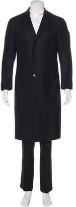 Giorgio Armani Wool Three-Button Coat
