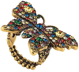 Gucci Crystal studded butterfly ring