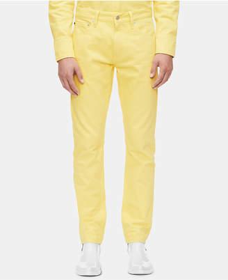 Calvin Klein Jeans Men Slim-Fit Vista Yellow Jeans