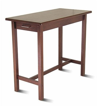 Winsome Wood Sally Breakfast Table w/ Two Drawers, Walnut