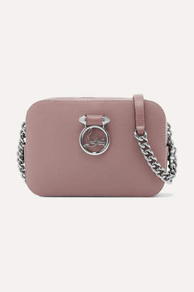 Christian Louboutin Rubylou Textured-leather Shoulder Bag - Blush