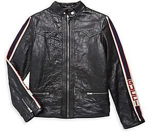 Gucci Boy's Leather Jacket