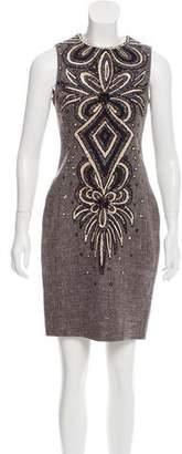 Naeem Khan Embellished Sleeveless Dress