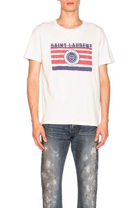 Saint Laurent League Tee in Dirty Ecru | FWRD