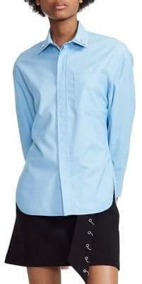 Maje Carema Studded Collar Button-Down Shirt