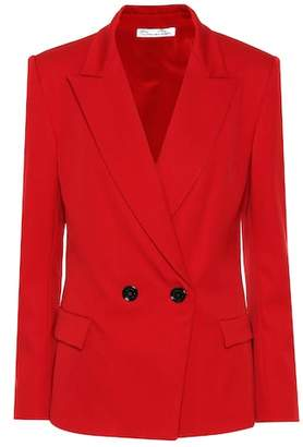 Oscar de la Renta Stretch-wool blazer