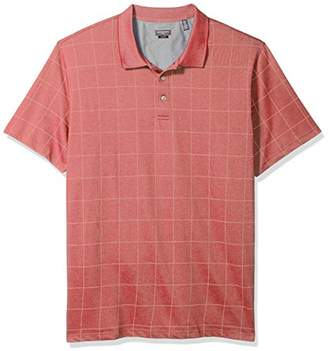 Van Heusen Men's Size Big and Tall Printed Windowpane Polo Shirt