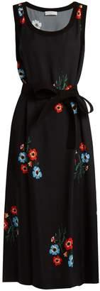 Sonia Rykiel Floral-print tie-waist crepe dress
