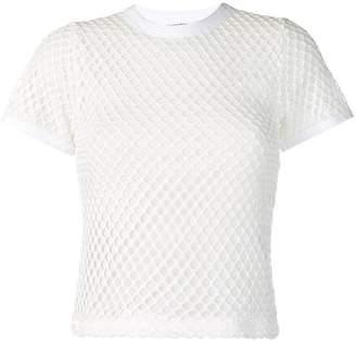 Alexander Wang mock neck mesh T-shirt