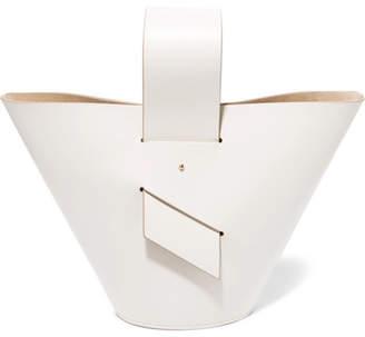 Carolina Santo Domingo Amphora Leather Tote - White