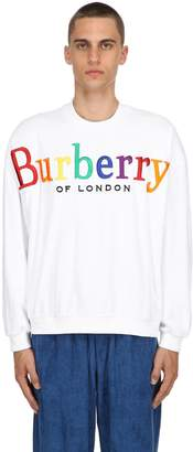 Burberry Rainbow Logo French Terry Sweatshirt