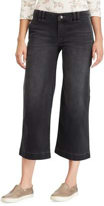 Chaps Women's Wide-Leg Crop Jeans
