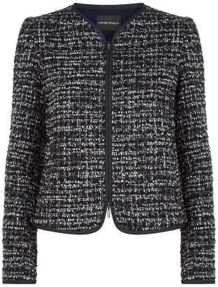 Emporio Armani Tweed Zip Jacket