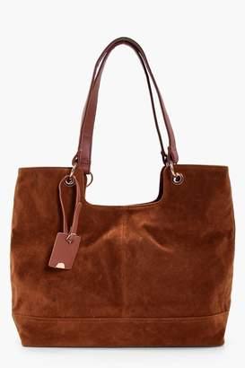 boohoo Suedette Shoulder Bag