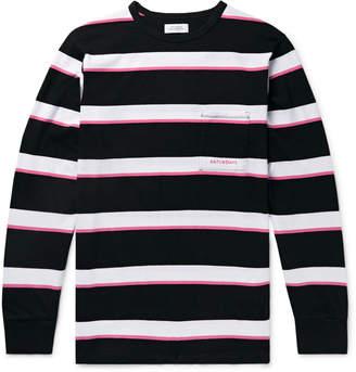 Saturdays NYC Striped Cotton-Jersey T-Shirt