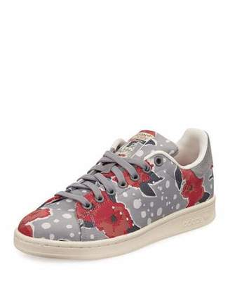 Adidas Stan Smith Floral Sneaker, Solid Gray/Unity Pink $85 thestylecure.com