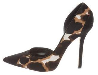 Oscar de la Renta Ponyhair Pointed-Toe Pumps