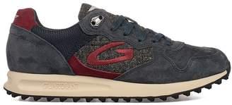 Alberto Guardiani Grey/blue Sport Man Patwin Suede Sneakers