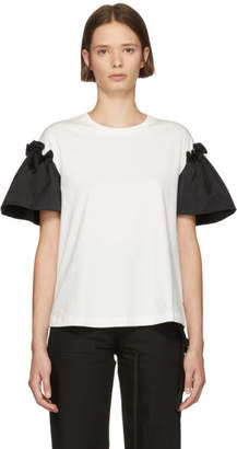Edit White and Black Frill T-Shirt