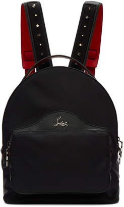 Christian Louboutin Black Backloubi Backpack