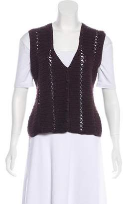 Miu Miu Crotchet Wool Vest