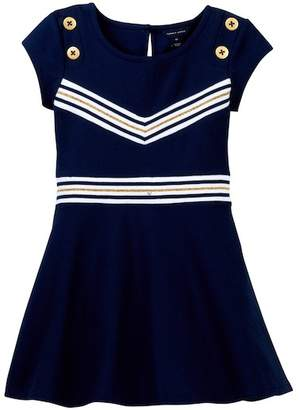 Tommy Hilfiger Rib V-Front Dress (Toddler Girls)