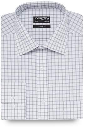 The Collection - White Large Square Checked Print Regular Fit Shirt