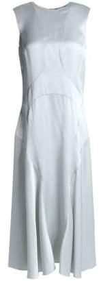 M Missoni Fluted Satin-Crepe Midi Dress
