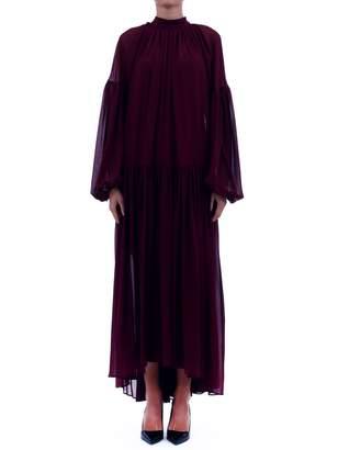 Stella McCartney Draped Burgundy Gown