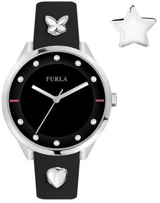 Furla Women's Pin Crystal Accented Analog Quartz Watch, 38mm